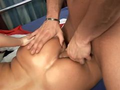 Eve adams moans with satisfaction as her milf ass is penetrated