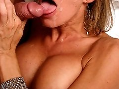 Lusty MILF getting her sexholes pounded with dick