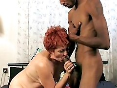 Hot granny enjoying a hard banging